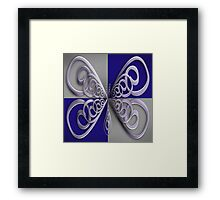 Metallic Butterfly  Framed Print