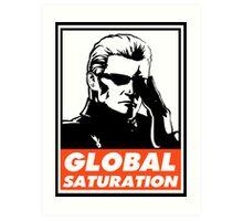 Wesker Global Saturation Obey Design Art Print