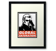 Wesker Global Saturation Obey Design Framed Print
