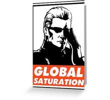 Wesker Global Saturation Obey Design Greeting Card