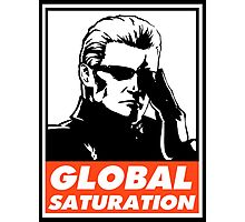 Wesker Global Saturation Obey Design Photographic Print