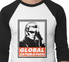 Wesker Global Saturation Obey Design Men's Baseball ¾ T-Shirt
