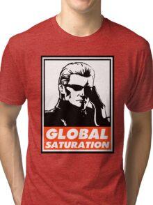 Wesker Global Saturation Obey Design Tri-blend T-Shirt
