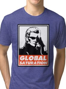 Wesker Global Saturation Obey Design Tri-blend T-Shirt