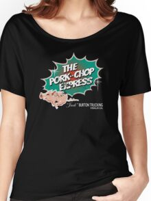 Pork Chop Express - Distressed Green Variant Women's Relaxed Fit T-Shirt