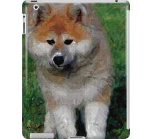 Akita Dog With Ball   iPad Case/Skin