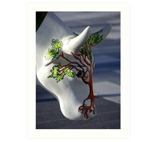 Cow with tree, Ebrington, Derry Art Print