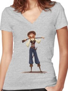 Mary Read Women's Fitted V-Neck T-Shirt