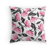 Nice Abstract Roses Print Throw Pillow