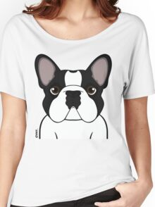 Frenchie - Brindle Pied Women's Relaxed Fit T-Shirt
