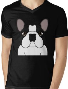 Frenchie - Brindle Pied Mens V-Neck T-Shirt