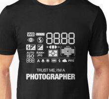 Camera settings Unisex T-Shirt
