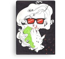 The Smoke Envelopes You; Becomes You Canvas Print