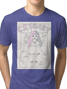 ♡ CRYBABY vintage illustration ♡ Tri-blend T-Shirt