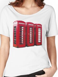 Red Phoneboxes Women's Relaxed Fit T-Shirt