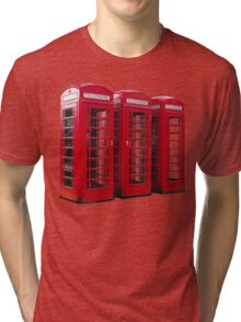 Red Phoneboxes Tri-blend T-Shirt