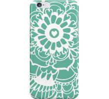 Teal Lacework Doodle iPhone Case/Skin
