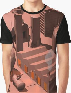 Low Poly Industry Graphic T-Shirt