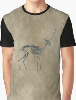 Deer Skeleton Graphic T-Shirt