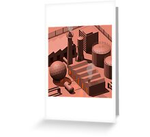 Low Poly Industry Greeting Card