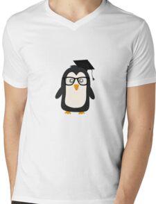 Penguin nerd Mens V-Neck T-Shirt
