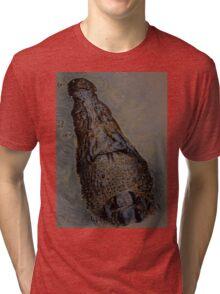 crocodile in kakadu Tri-blend T-Shirt