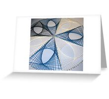 Overlapping Calculus Curves Greeting Card
