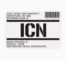 Seoul Korea airport destination stamp by GentryRacing