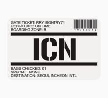 Seoul Korea airport destination stamp by GentryRacing