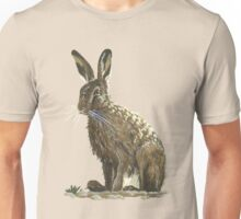 Rabbit in the yellow field - acrylic painting Unisex T-Shirt