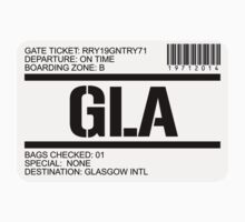 Glasgow Scotland airport destination stamp by GentryRacing