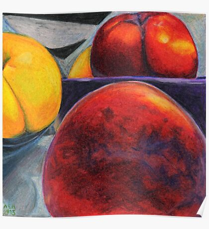 Stoned Fruit in Color Pencil Poster