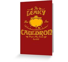 The Leaky Cauldron Bar & Inn Greeting Card