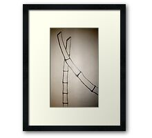 Minimalist Sumi-E Framed Print
