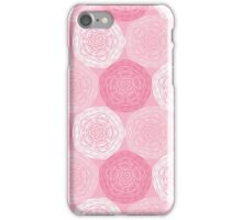 Pink Abstract Roses Print iPhone Case/Skin