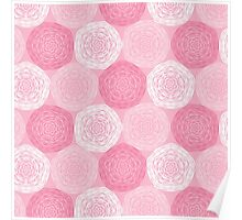 Pink Abstract Roses Print Poster