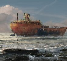 a tribute to the wreck by Nikolay Semyonov