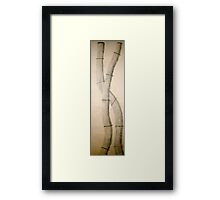 Sumi-E Simplified Framed Print