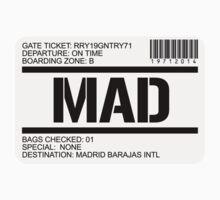 Madrid Spain airport destination stamp by GentryRacing