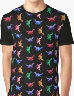 Rainbow Pixelsaurs Graphic T-Shirt