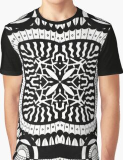 Black and White Retro Abstract Design Graphic T-Shirt