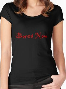 Bored Now (Red) Women's Fitted Scoop T-Shirt