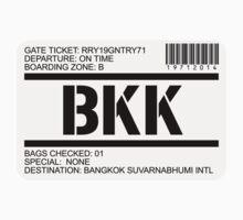 Bangkok Thailand Suvarnabhumi airport destination stamp by GentryRacing