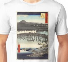 Nihonbashi - Hiroshige Ando - 1855 - woodcut Unisex T-Shirt