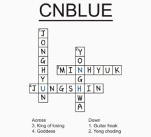 CNBLUE crossword puzzle design by Nitewalker314