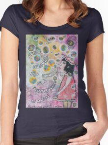 Bubbles make your soul smile Women's Fitted Scoop T-Shirt