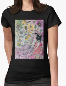 Bubbles make your soul smile Womens Fitted T-Shirt