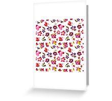 Watercolor flowers Greeting Card