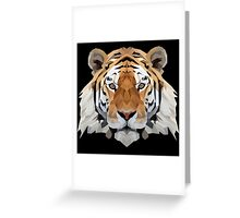 Crystalline Tiger Greeting Card
