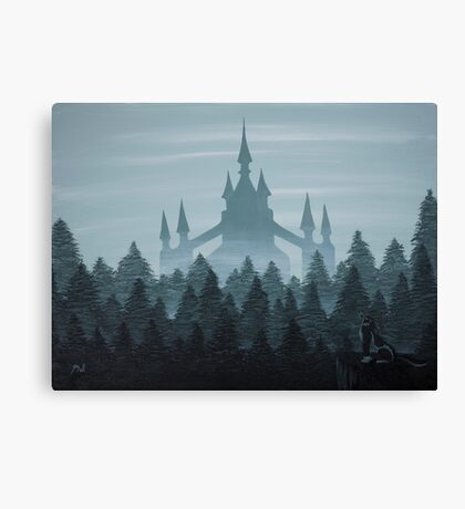 Misty Castle Canvas Print